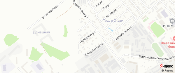 Городская улица на карте Тюмени с номерами домов