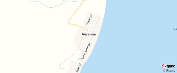 Карта деревни Ачикуля в Курганской области с улицами и номерами домов