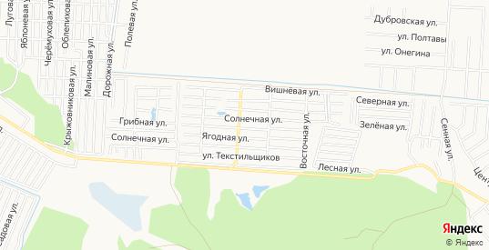 Карта садового некоммерческого товарищества Текстильщик в Тюмени с улицами, домами и почтовыми отделениями со спутника онлайн
