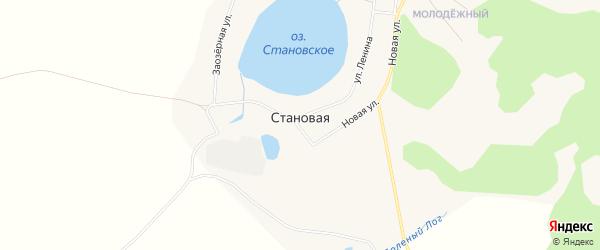 Карта Становой деревни в Курганской области с улицами и номерами домов