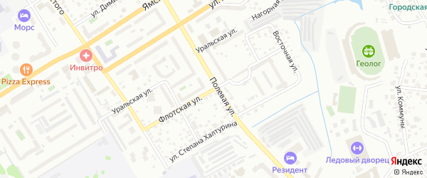 Флотская улица на карте Тюмени с номерами домов