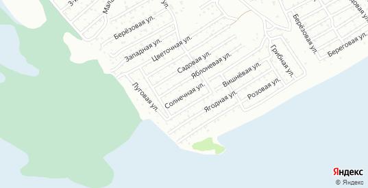 Солнечная улица в территории ДНТ Березка в Тюмени с номерами домов на карте. Спутник и схема онлайн