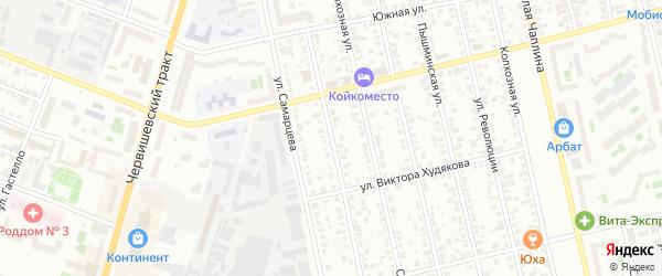 Трактовая улица на карте Тюмени с номерами домов