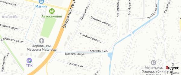 Ромашковая улица на карте Тюмени с номерами домов