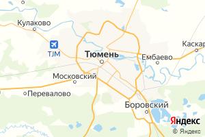 Карта г. Тюмень Тюменская область