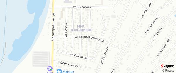 Улица Марии Цукановой на карте Тюмени с номерами домов