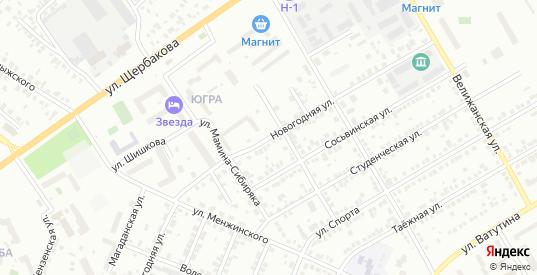 Новогодняя улица в Тюмени с номерами домов на карте. Спутник и схема онлайн