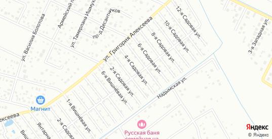 Четвертая улица в территории ДНТ Березка в Тюмени с номерами домов на карте. Спутник и схема онлайн