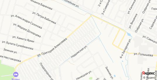 Карта территории ДНТ Березка в Тюмени с улицами, домами и почтовыми отделениями со спутника онлайн