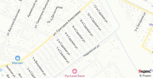 Малая улица в территории ДНТ Березка в Тюмени с номерами домов на карте. Спутник и схема онлайн