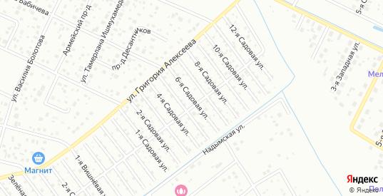 6-я Садовая улица в территории ДНТ Березка в Тюмени с номерами домов на карте. Спутник и схема онлайн