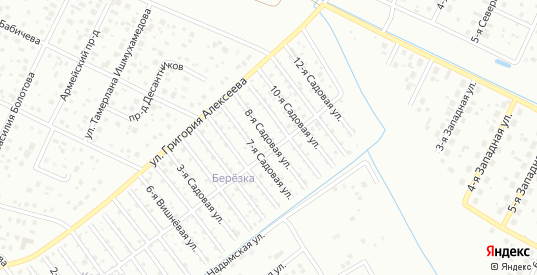 Восьмая улица в территории ДНТ Березка в Тюмени с номерами домов на карте. Спутник и схема онлайн