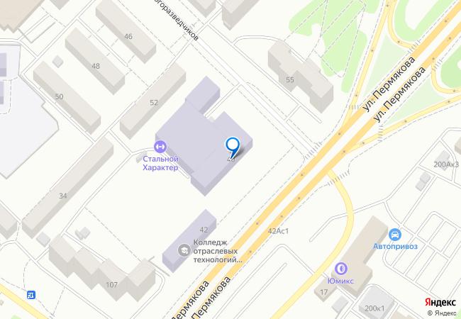 3b47f52d8 улица Пермякова, 40 на карте Тюмени, организации, фото подробно