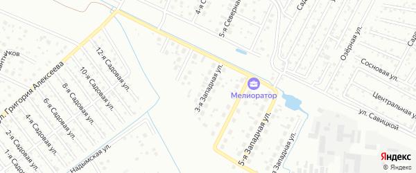Западная 3-я улица на карте Тюмени с номерами домов