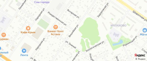 Вишневая улица на карте территории Строитель-1 с номерами домов