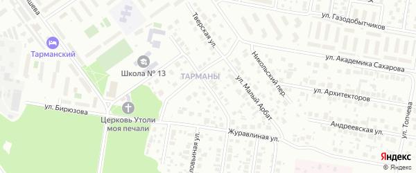 Егорьевская улица на карте Тюмени с номерами домов