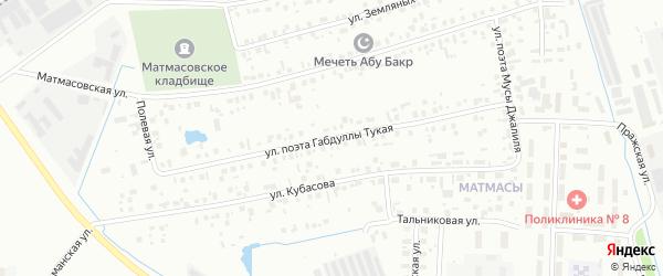 Поэта Габдуллы Тукая улица на карте Тюмени с номерами домов