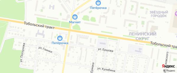 Улица Жуковского на карте Тюмени с номерами домов