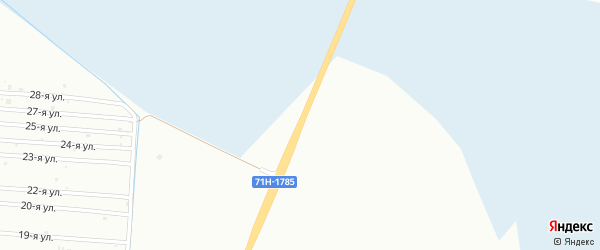 Километр 25 на карте территории Тюмень-Нижней Тавды Тюменской области с номерами домов