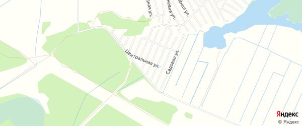 Территория СНТ Ясная Поляна на карте Тюменского района Тюменской области с номерами домов