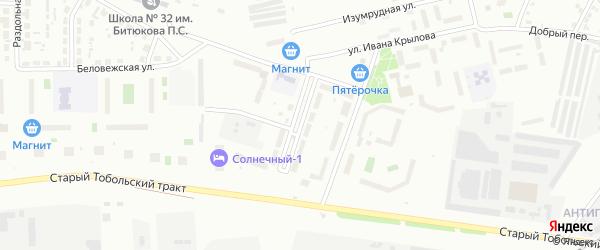 Улица Буденного на карте Тюмени с номерами домов
