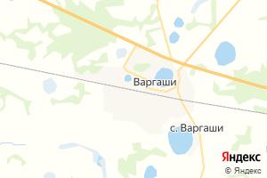 Карта пгт Варгаши Курганская область