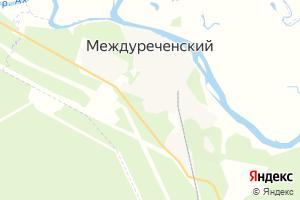 Карта пгт Междуреченский Ханты-Мансийский автономный округ-Югра