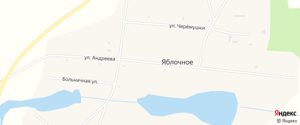 Улица Андреева на карте Яблочного села Курганской области с номерами домов