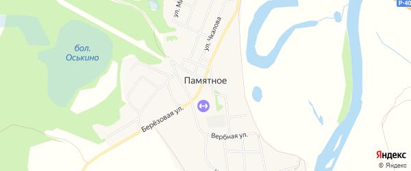 Карта Памятного села в Тюменской области с улицами и номерами домов