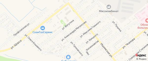 Улица А.Матросова на карте Ялуторовска с номерами домов
