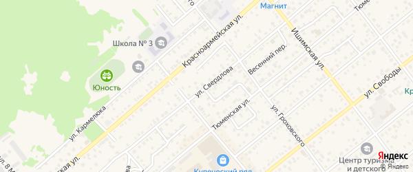 Улица Свердлова на карте Ялуторовска с номерами домов