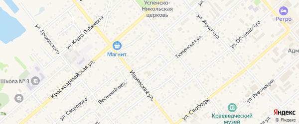 Ишимский переулок на карте Ялуторовска с номерами домов