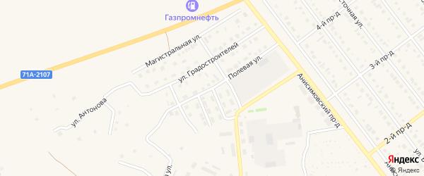 Улица Мелиораторов на карте Ялуторовска с номерами домов