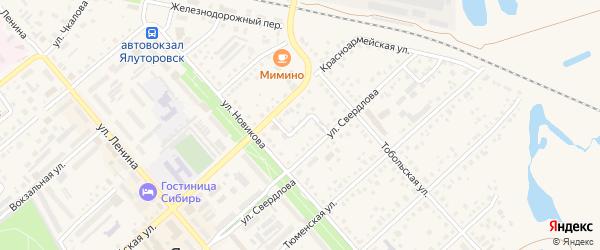 Свердловский переулок на карте Ялуторовска с номерами домов