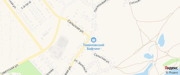 Дорога Поселковая-ад. на карте Ялуторовска с номерами домов