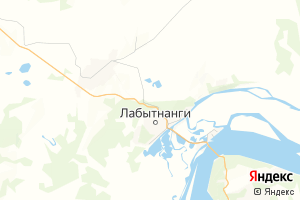 Карта г. Лабытнанги Ямало-Ненецкий автономный округ
