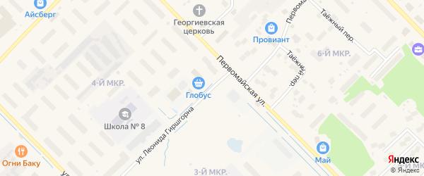 Улица Леонида Гиршгорна на карте Лабытнанги с номерами домов