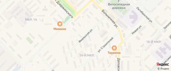 Ямальская улица на карте Лабытнанги с номерами домов