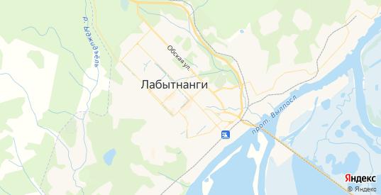 Карта Лабытнанги с улицами и домами подробная. Показать со спутника номера домов онлайн