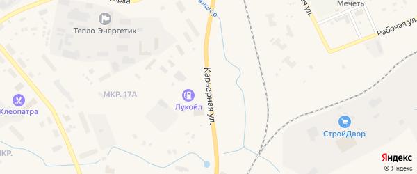 Карьерная улица на карте Лабытнанги с номерами домов