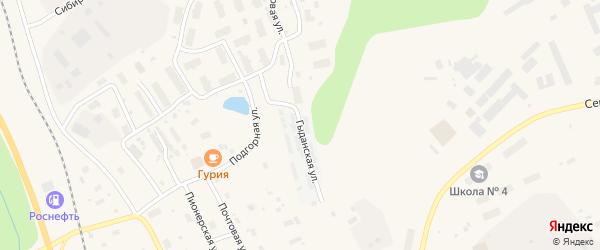 Гыданская улица на карте Лабытнанги с номерами домов