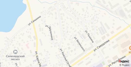 Улица Кольцова в Салехарде с номерами домов на карте. Спутник и схема онлайн