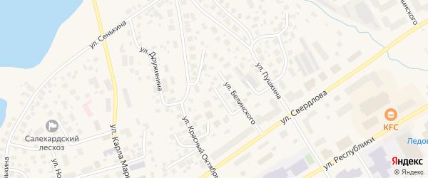 Улица Кольцова на карте Салехарда с номерами домов