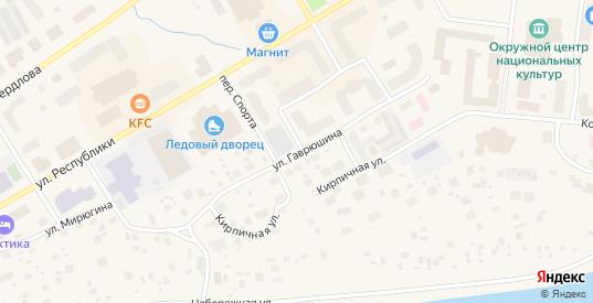 Улица Гаврюшина в Салехарде с номерами домов на карте. Спутник и схема онлайн