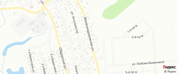 Железнодорожная улица на карте Салехарда с номерами домов