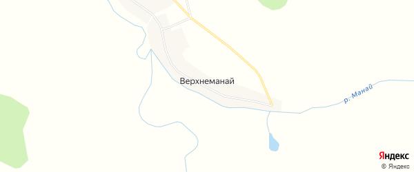 Карта села Верхнеманая в Тюменской области с улицами и номерами домов