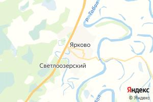 Карта с. Ярково Тюменская область