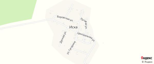 Улица Гагарина на карте деревни Иски Тюменской области с номерами домов