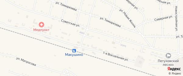 Вокзальная 2-я улица на карте Макушино с номерами домов