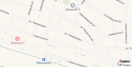 Улица Тимирязева в Макушино с номерами домов на карте. Спутник и схема онлайн